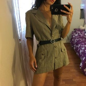 vintage short sleeve dress / blazer